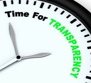Transparency is key to business success.  Photo credit:  Dollar Photo Club, Stuart Miles
