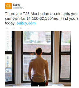 "Suitey, an online real estate brokerage based in Manhattan, aims its Twitter ads at people ""in their early 30s that are working in New York City and have the disposable income to rent or buy here,"" said its marketing manager, Austin Bradley.  Photo Credit:  The New York Times"